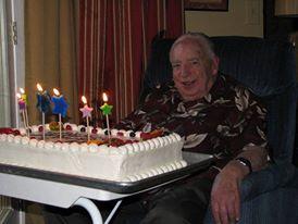 Grandpa, at his 93rd birthday.