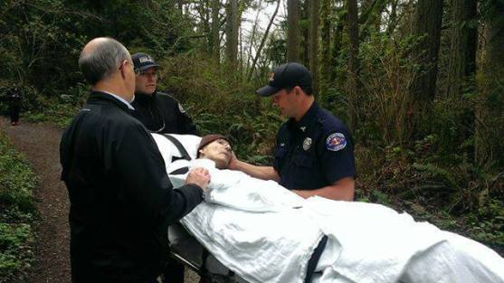 GodFruits June 14, 2014 ·    This powerful photo comes from Snohomish County. These Firefighters granted a wish to an elderly hospice patient. The former forest ranger wanted to see the outdoors one more time, so the firefighters wheeled him through the forest, where he could experience nature once again.  With all the bad things going on in the world this picture just makes you smile and gives you hope that one day people will be kind enough to grant you your last wish. God Bless these Firefighters.